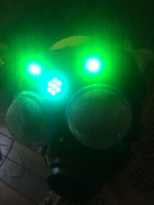 prototyping the head - arduino floras and LED, soldering & programming